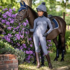 LeMieux Young Rider Pull On Breeches Slate