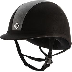 Charles Owen YR8 Riding Hat Black/Grey