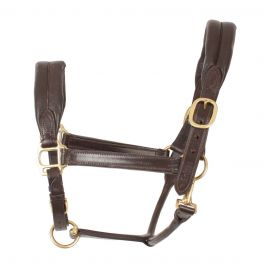 EXTRA FULL BLACK OR BROWN Shires Blenheim Leather Travel Headcollar PONY
