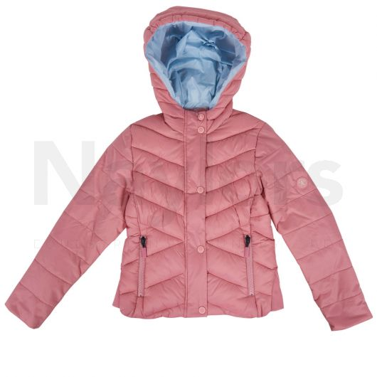 Barbour Girls Isobath Quilted Jacket Vintage Rose