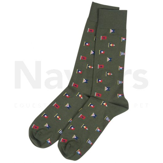 Barbour Mavin Socks Olive Flag