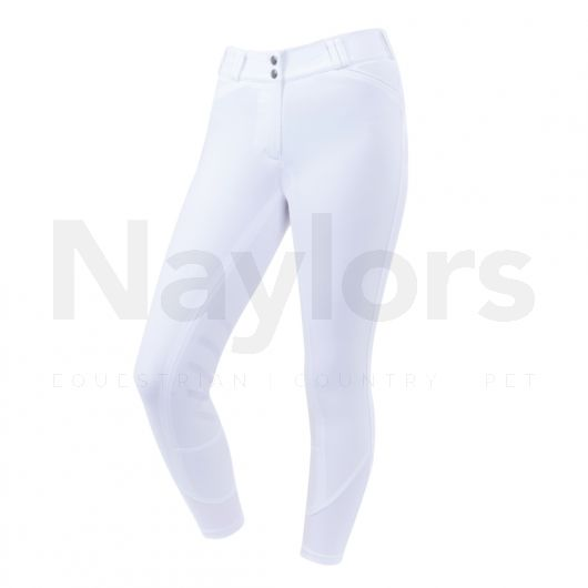 Dublin Ladies Ascent Prime Gel Knee Patch Mid Rise Breeches White