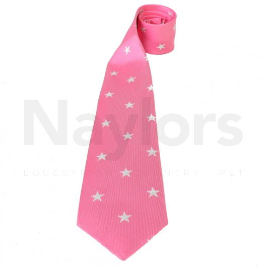 Equetech Childs Stars Show Tie Fucshia/Silver