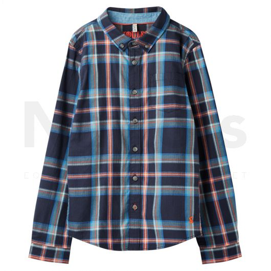 Joules Boys Lachlan Shirt Navy Check