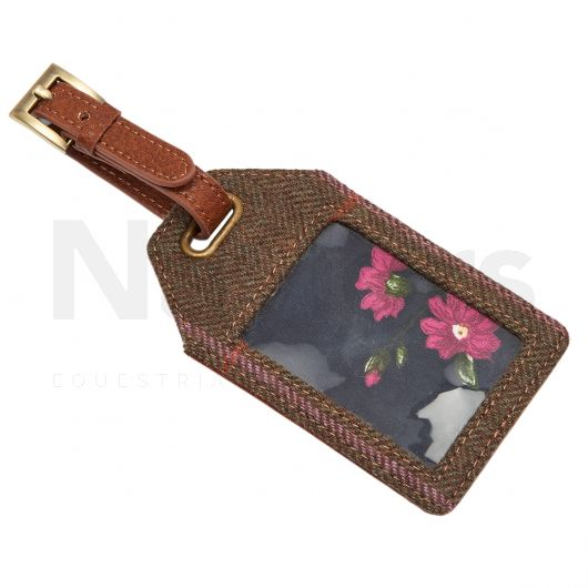 """Joules """"It's Mine!"""" Luggage Tag Hardy Tweed"""