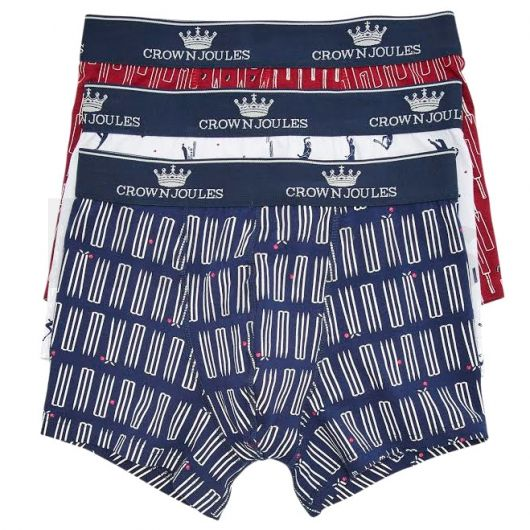 Joules Mens Crown Joules Underwear 3 Pack Sticky Wicket