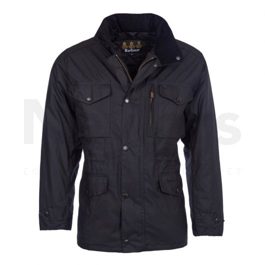 Barbour Mens Sapper Waxed Jacket Black