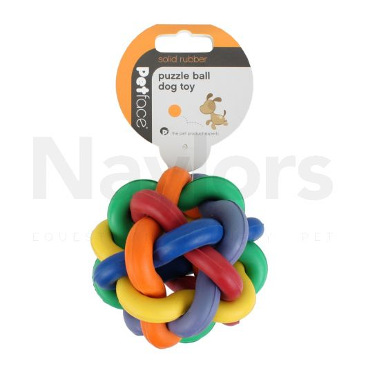 Petface® Dogs Rubber Puzzle Ball