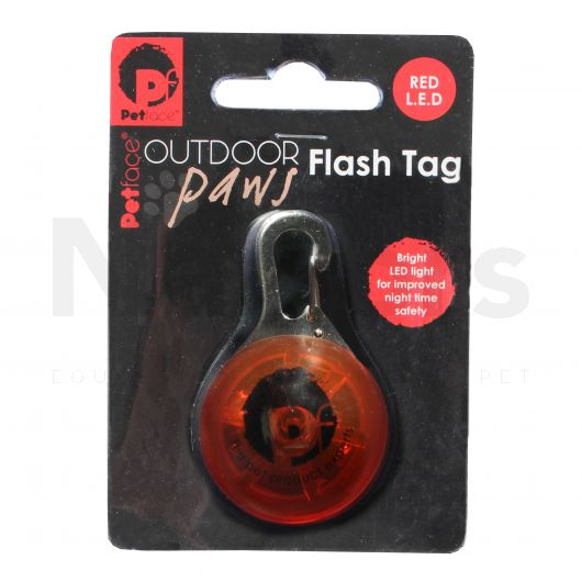 Petface® Flash Tag Red