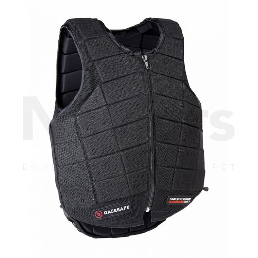 Racesafe Adult	 3s Provent 3.0 Body Protector Black. Back Shot