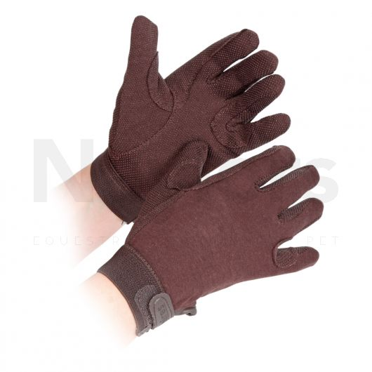 Shires Childs Newbury Riding Gloves Brown
