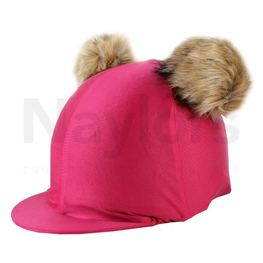 Shires Double Pom Hat Cover Pink
