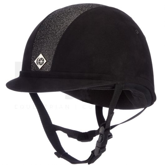 Charles Owen YR8 Sparkle Riding Hat Black/Black Bling