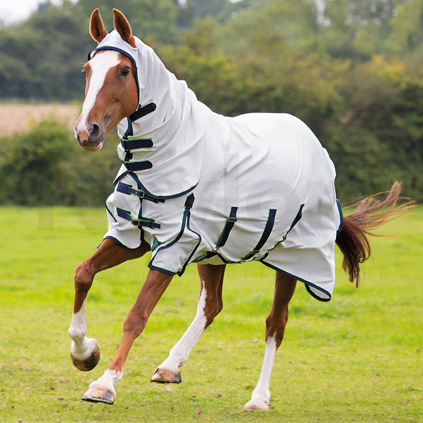 Shires Sweet Itch Combo Fly Rug White
