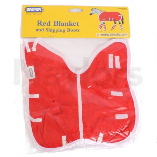 Breyer® Traditional® Blanket and Shipping Boots Red