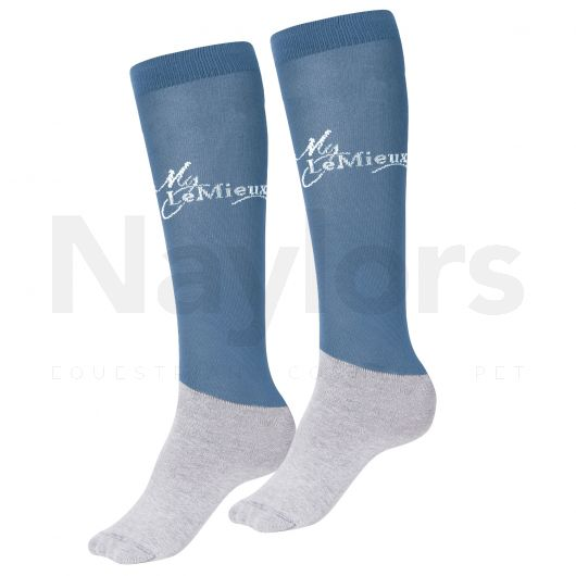 LeMieux Competition Socks 2 Pack Ice Blue