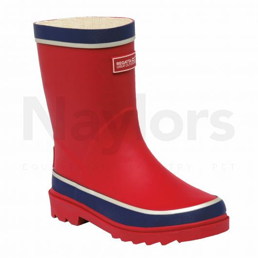 Regatta Junior Foxfire Wellies Senator Red/Prussian