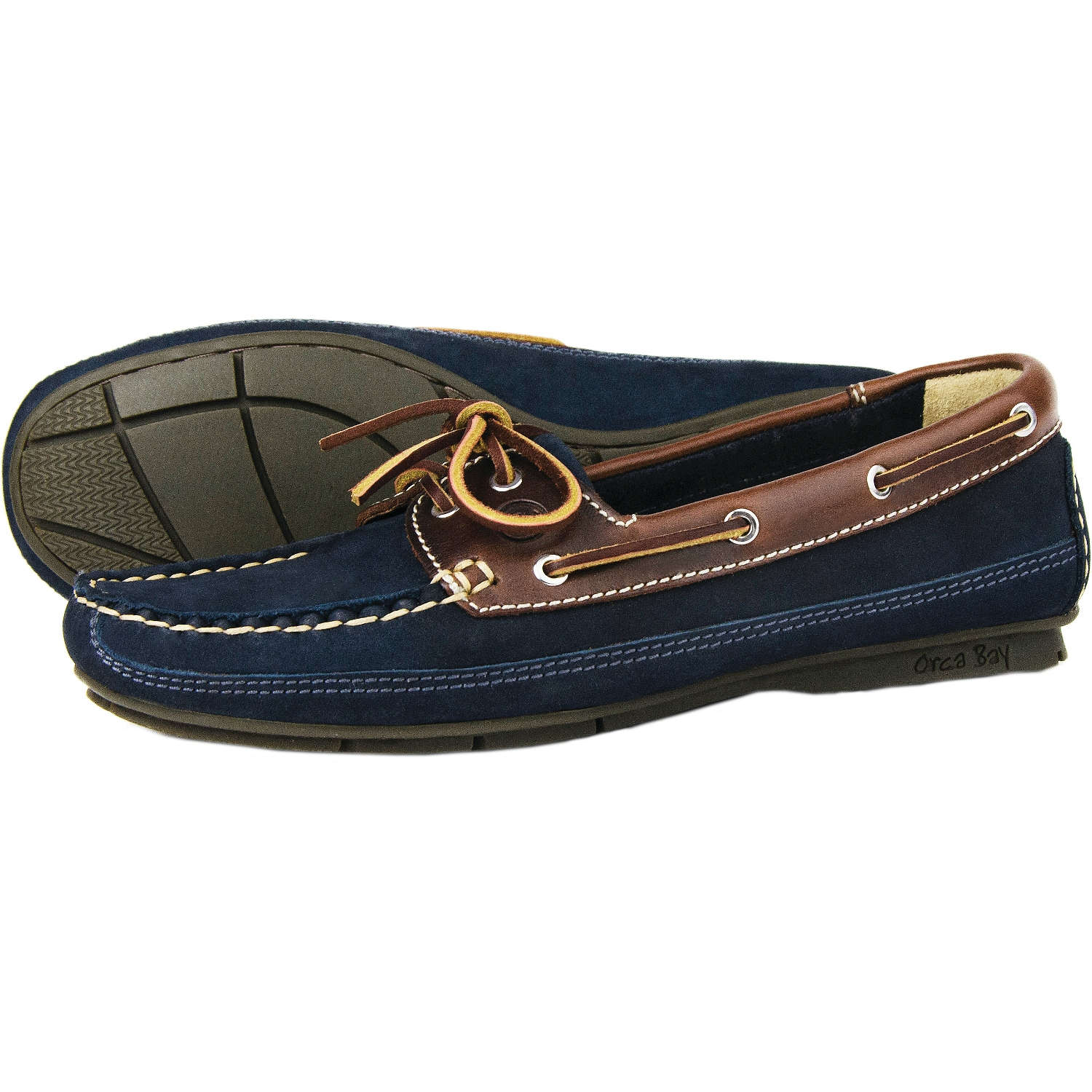 51ff9b79d7556 Orca Bay Ladies Bahamas Boat Shoes Indigo/Saddle