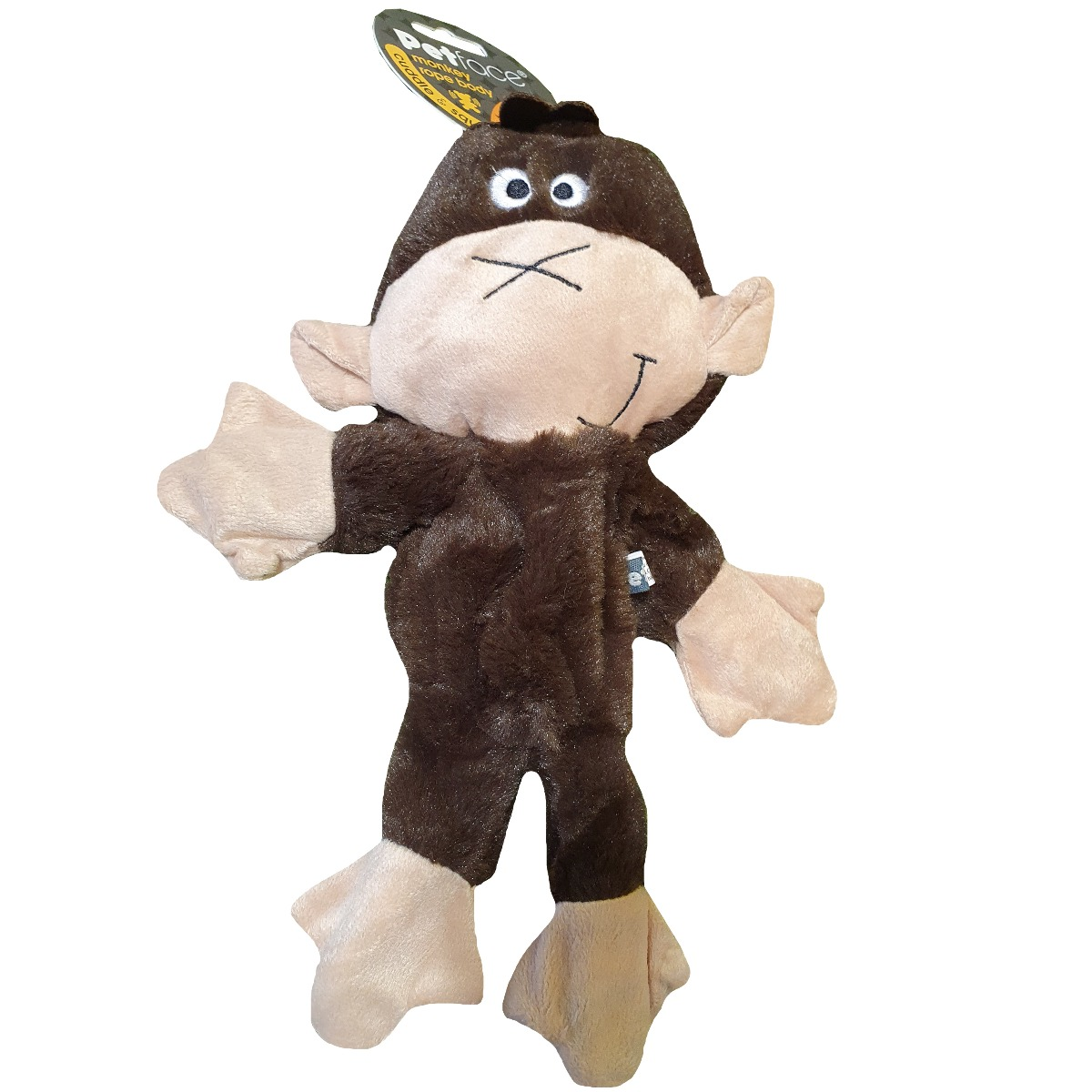 Petface Rope Body Toy Brown