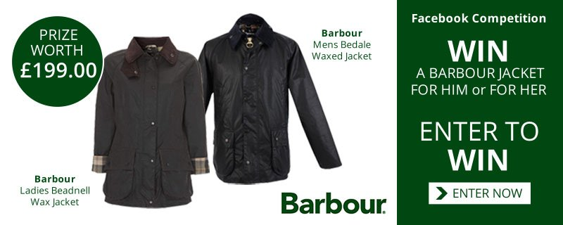 Win A Barbour Jacket For Him or For Her worth £199