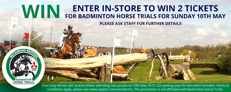 Win tickets to Badminton Horse Trials 2015