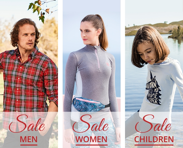 Equestrian and Country Summer Sale for Him, for Her and for Children