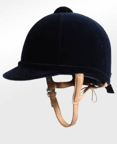 A riding helmet