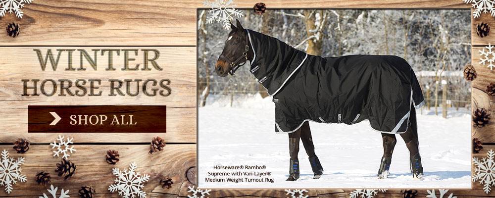 Spruce up your horse's wardrobe this Christmas with a new Winter Rug