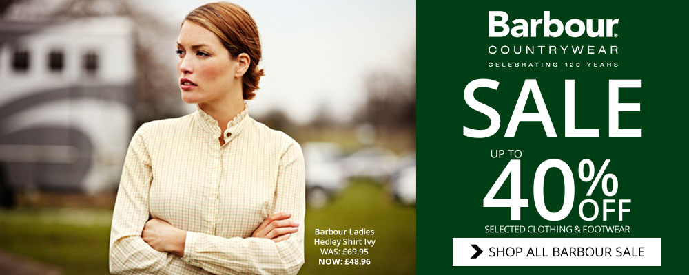 Barbour Sale, Upto 40% off selected clothing and footwear with Naylors Equestrian