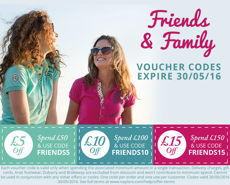 Friends & Family Bank Holiday Voucher Codes