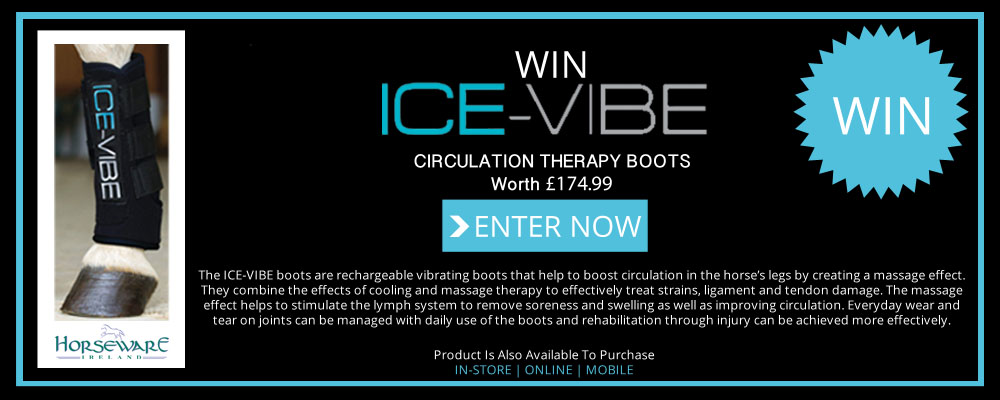 Image promoting competition to win a pack of Ice-Vibe Therapy boots