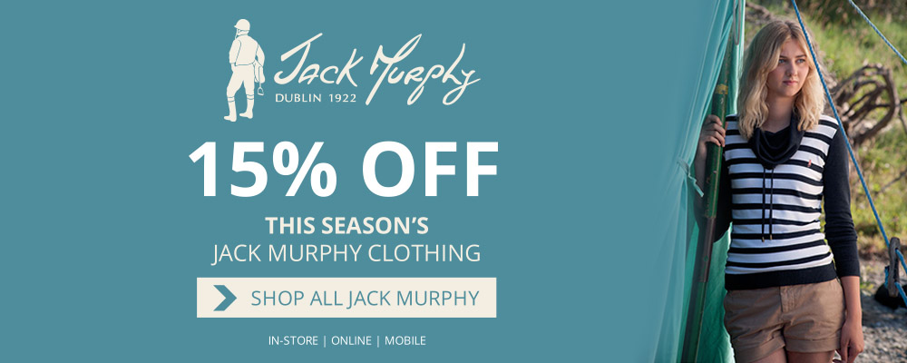 15% off this season's Jack Murphy collection