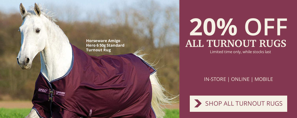 20% off all Turnout Rugs at Naylors Equestrian