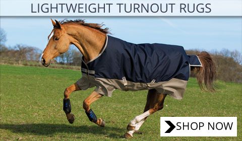 Image promoting lightweight turnout horse rugs