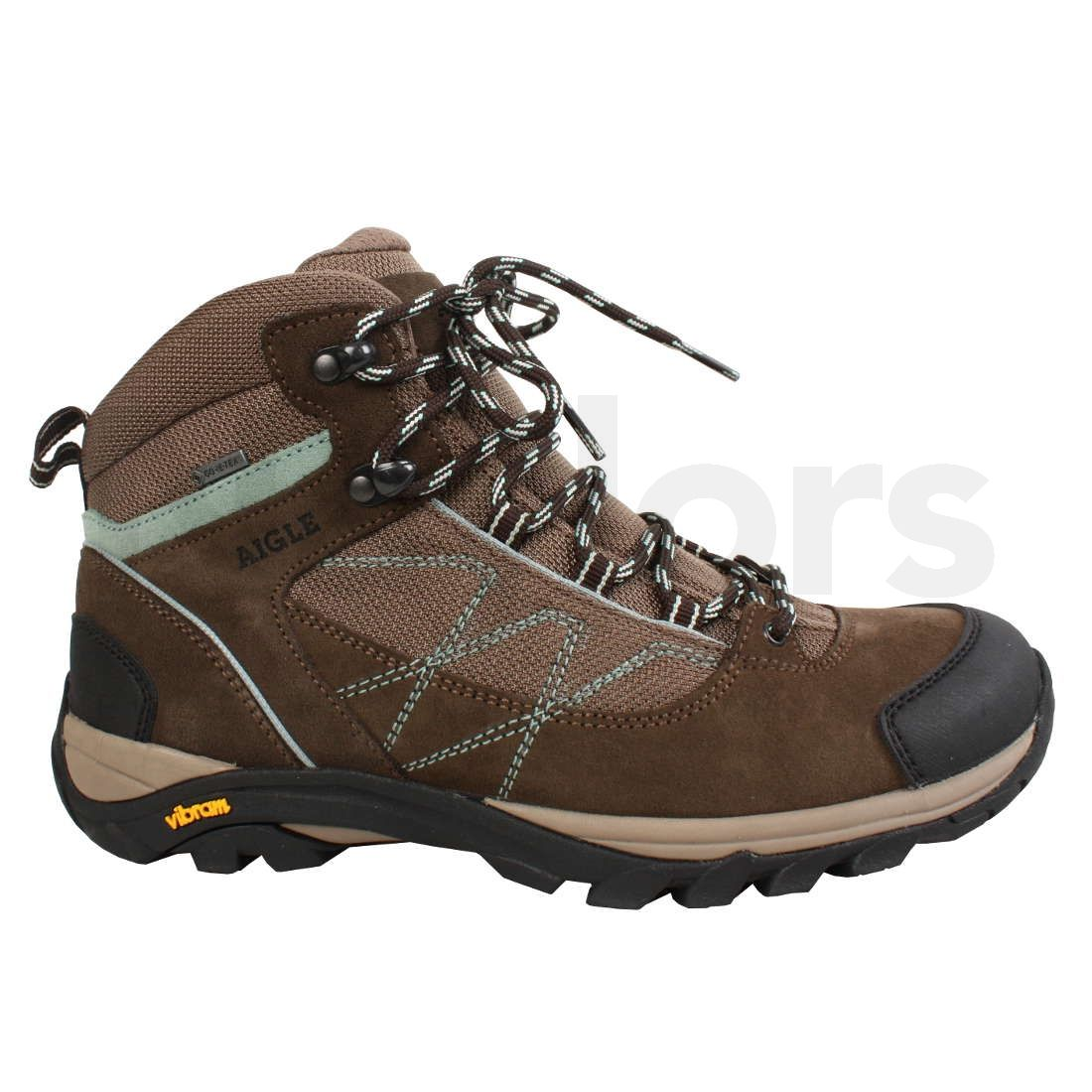 9f09ef20a8a Aigle Ladies Mooven Mid Rise Hiking Shoes Dark Brown | Naylors.com
