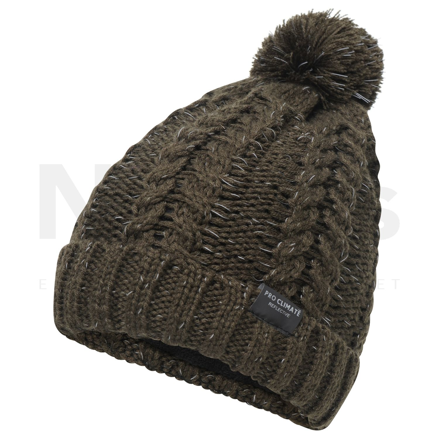 5a702c513 Pro Climate Ladies Alica Chunky Knit Pom Hat with Hi Vis Olive